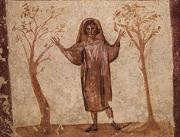 Affreschi catacombe Santi Marcellino e Pietro restaurati 2016